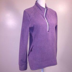 Eddie Bauer Fleece 1/4 Zip Sweatshirt Purple Large